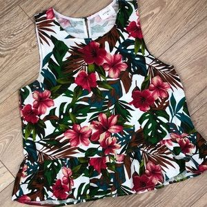 Boutique tropical peplum tank by Everly MED